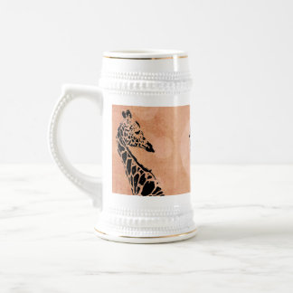 Orange Circles Giraffe ~ 	Stein Beer Stein