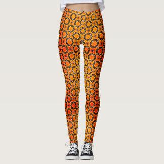 Orange Circles Leggings