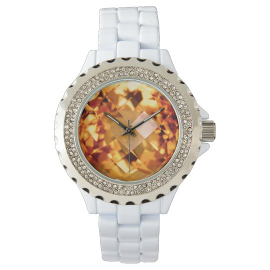 Orange Citrine Wrist Watch