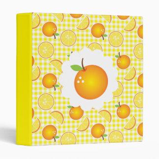 Orange Citrus Recipe Binder