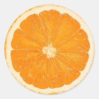 Orange citrus sticker