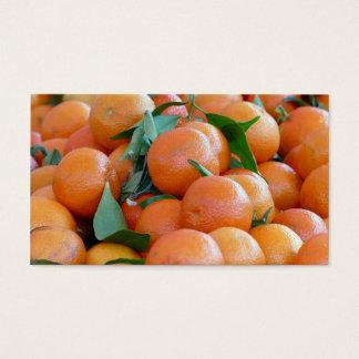 Orange citrus, tangerine business card