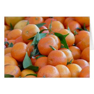 Orange clementines, tangerines wild duck green card
