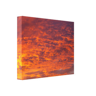 Orange clouds canvas