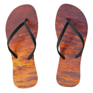 Orange clouds flip flops