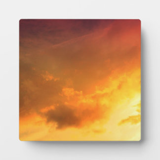 Orange Clouds Plaque