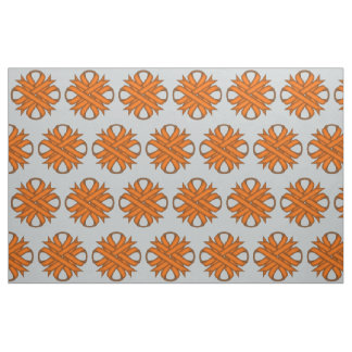 Orange Clover Ribbon by Kenneth Yoncich Fabric
