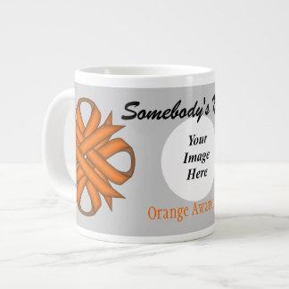 Orange Clover Ribbon Template Jumbo Mug