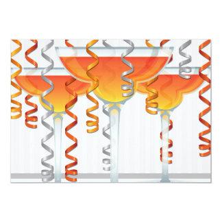 Orange  cocktail and ribbon card
