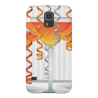Orange cocktail and ribbon galaxy s5 covers