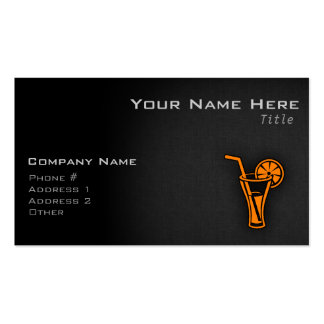 Orange Cocktail Business Cards