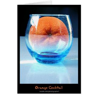 Orange cocktail card