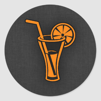 Orange Cocktail Classic Round Sticker