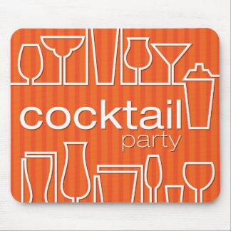 Orange cocktail party mouse pad