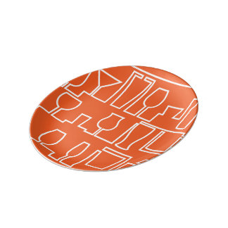 Orange cocktail party plate