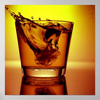 Orange cocktail poster