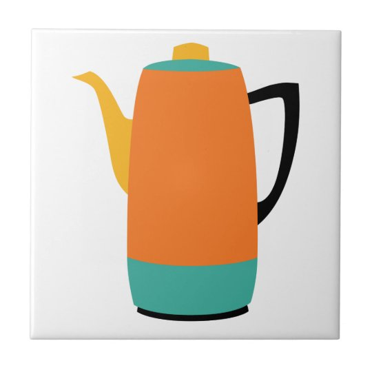 Orange Coffee Percolator Tile