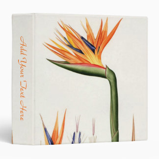 orange color flowers,Pierre Joseph Redouté Vinyl Binder