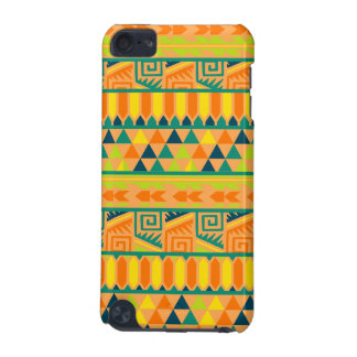 Orange Colorful Abstract Aztec Tribal Print Pattrn iPod Touch 5G Cover