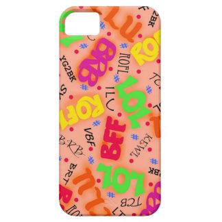 Orange Colorful Electronic Texting Art Abbreviatio iPhone 5 Case