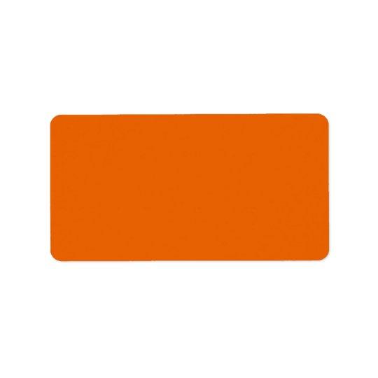 Orange Colour Label