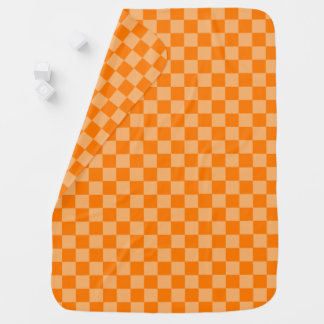 Orange Combination Checkerboard by Shirley Taylor Baby Blanket