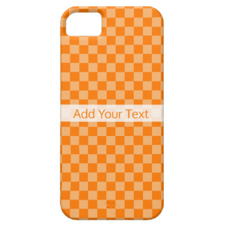 Orange Combination Checkerboard by Shirley Taylor iPhone 5 Case