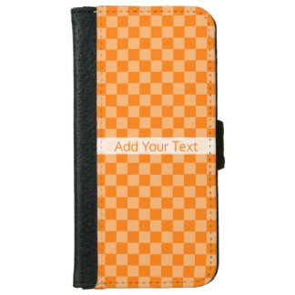 Orange Combination Checkerboard by ShirleyTaylor iPhone 6 Wallet Case