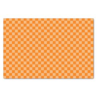Orange Combination Checkerboard by ShirleyTaylor Tissue Paper