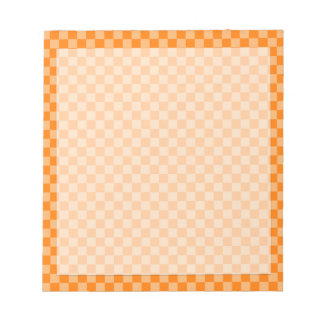Orange Combination Classic Checkerboard Notepad