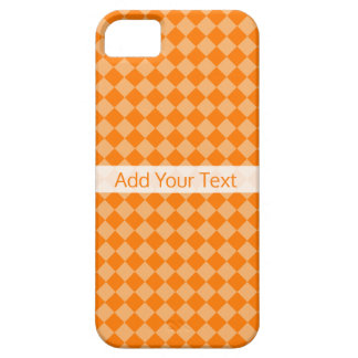 Orange Combination Diamond Pattern by STaylor Case For The iPhone 5