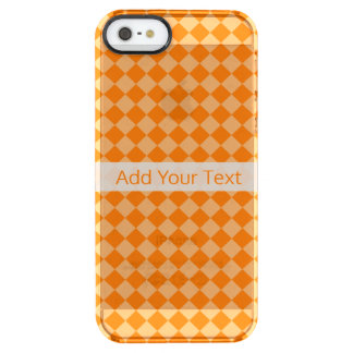 Orange Combination Diamond Pattern by STaylor Clear iPhone SE/5/5s Case