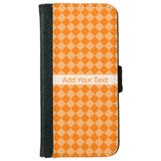 Orange Combination Diamond Pattern by STaylor iPhone 6 Wallet Case