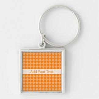 Orange Combination Diamond Pattern by STaylor Keychain