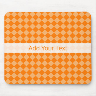 Orange Combination Diamond Pattern by STaylor Mouse Pad