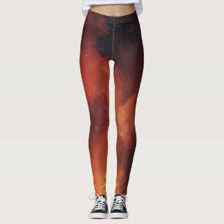 Orange Constellation Leggings