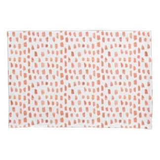 Orange Coral Dashes Pillowcase