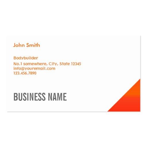 Orange Corner Bodybuilding Business Card