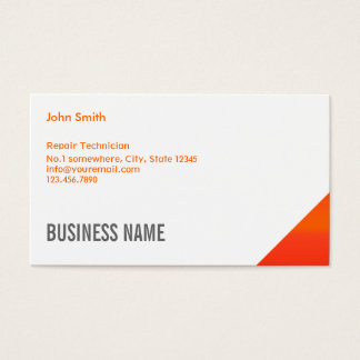 Orange Corner Computer Repair Business Card