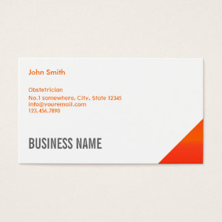 Orange Corner Obstetrician Business Card