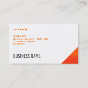 Forensic medicine business cards profile cards zazzle ca orange corner psychiatrist business card colourmoves