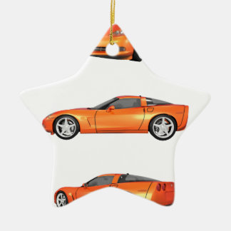 Orange Corvette: Ceramic Ornament