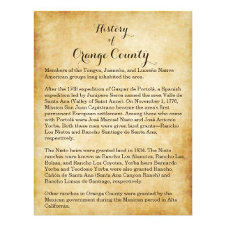 Orange County History Personalized Flyer