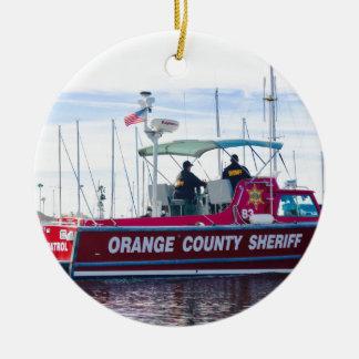 Orange County Sheriff Ceramic Ornament