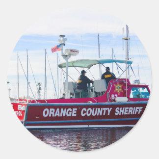 Orange County Sheriff Classic Round Sticker