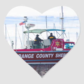Orange County Sheriff Heart Sticker