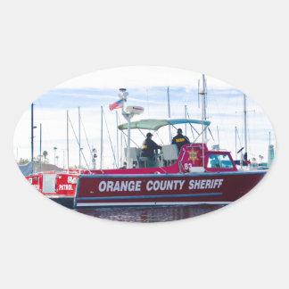 Orange County Sheriff Oval Sticker