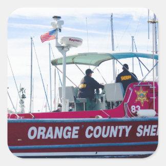Orange County Sheriff Square Sticker
