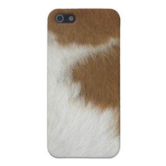 Orange cow hide case for iPhone 5/5S