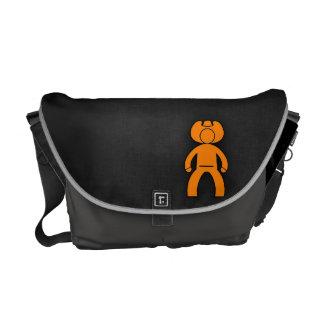 Orange Cowboy Messenger Bag